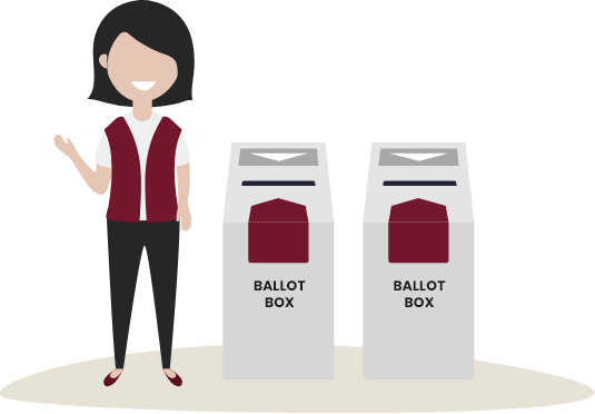 Place in ballot box