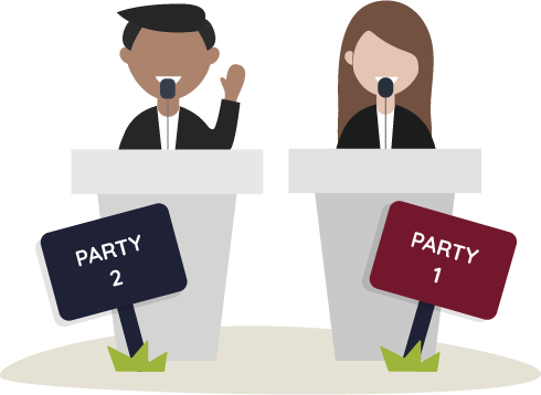 Image representing registered political parties